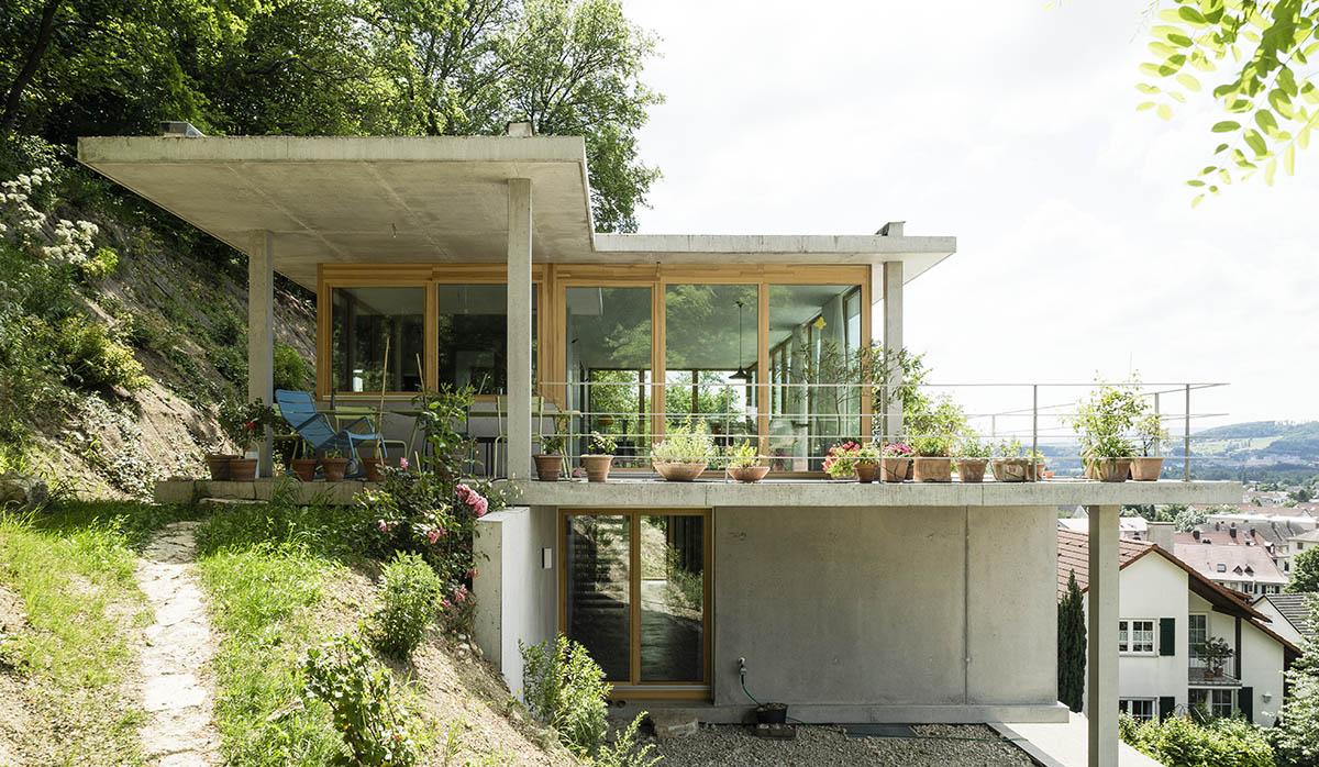 Gian Salis Architekt Wohnhaus Am Hang